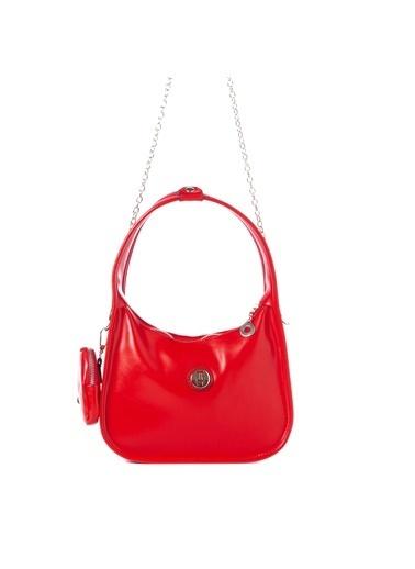 TH Bags TH Bags 2THCW2020083 Fermuarlı Cüzdanlı Kadın Omuz Çantası Kırmızı